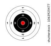 uncluttered target llustration... | Shutterstock .eps vector #1063925477
