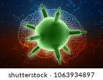 3d rendering viruses in... | Shutterstock . vector #1063934897