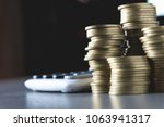 saving money concept with money ...   Shutterstock . vector #1063941317