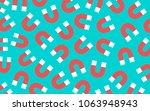 magnetism pattern. magnet in...   Shutterstock .eps vector #1063948943