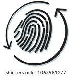 fingerprint scan icon as eps 10 ... | Shutterstock .eps vector #1063981277