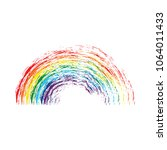 Rainbow Painted In The Style O...
