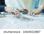 smart industry and automation... | Shutterstock . vector #1064022887