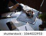 microchip  cpu  processor ... | Shutterstock . vector #1064022953
