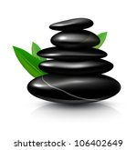 Spa STONES. Detailed VECTOR illustration, painted with love to details. - stock vector