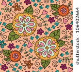 seamless flowers pattern. Can be used for wallpaper, pattern fills, web page background, surface textures. - stock vector