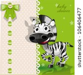 delicate green baby shower card ... | Shutterstock .eps vector #106406477