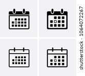calendar icons vector. reminder ... | Shutterstock .eps vector #1064072267