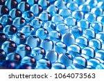 Water Blue Gel Balls. Polymer...