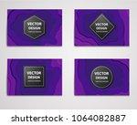 paper cut banners  flyers ... | Shutterstock .eps vector #1064082887