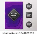 paper cut banners  flyers ... | Shutterstock .eps vector #1064082893