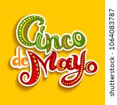 cinco de mayo card with bright... | Shutterstock .eps vector #1064083787