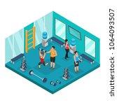 isometric individual training... | Shutterstock .eps vector #1064093507
