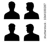 vector silhouettes of  men  ... | Shutterstock .eps vector #1064100287