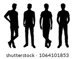 vector silhouettes of men ... | Shutterstock .eps vector #1064101853