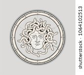 ancient mythology medusa head... | Shutterstock .eps vector #1064102513