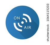 radio signal flat design long... | Shutterstock .eps vector #1064115203