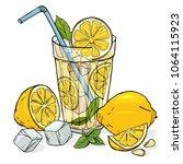 colorful vector illustration in ... | Shutterstock .eps vector #1064115923