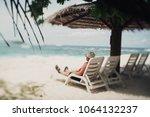 true tilt shift shot of an aged ... | Shutterstock . vector #1064132237