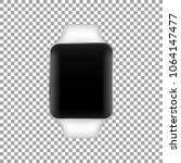 stainless silver smart watch... | Shutterstock .eps vector #1064147477