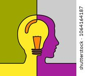 idea concept. black line... | Shutterstock .eps vector #1064164187