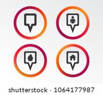 map square pointer icons. home  ... | Shutterstock .eps vector #1064177987