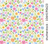 vector seamless pattern. pretty ... | Shutterstock .eps vector #1064190623