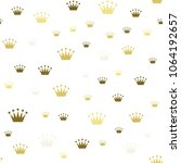 princess crown. seamless... | Shutterstock .eps vector #1064192657