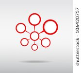 red connected the circle  to... | Shutterstock .eps vector #106420757