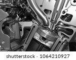 close up detail of modern... | Shutterstock . vector #1064210927