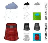 country scotland cartoon black... | Shutterstock .eps vector #1064213243