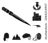 country scotland black icons in ... | Shutterstock .eps vector #1064214947