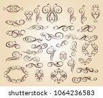 set design elements. vector... | Shutterstock .eps vector #1064236583