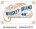 vintage packing label.... | Shutterstock .eps vector #1064241377