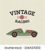 vector vintage sport racing car | Shutterstock .eps vector #106424303
