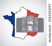 bastille day french celebration | Shutterstock .eps vector #1064243297