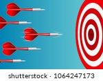 darts target. success business... | Shutterstock .eps vector #1064247173