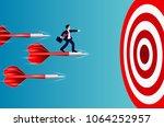 businessman standing on the... | Shutterstock .eps vector #1064252957