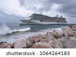 willemstad  curacao   march 23  ... | Shutterstock . vector #1064264183