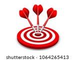 darts target. success business... | Shutterstock .eps vector #1064265413