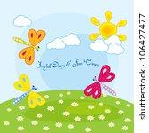 vector cute dragonfly   Shutterstock .eps vector #106427477