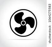 illustration of fan icon on... | Shutterstock .eps vector #1064275583
