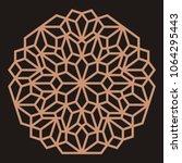 mandala. circular ornament.... | Shutterstock .eps vector #1064295443