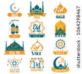 a vector illustration of eid al ... | Shutterstock .eps vector #1064298467