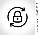 illustration of lock reload... | Shutterstock .eps vector #1064298917