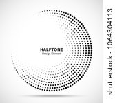 halftone circle frame abstract... | Shutterstock .eps vector #1064304113