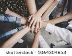 team work concept. business... | Shutterstock . vector #1064304653