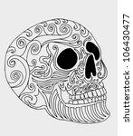 tattoo tribal skull | Shutterstock .eps vector #106430477