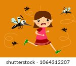 children running out of... | Shutterstock .eps vector #1064312207