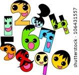vector hand drawn doodle funny... | Shutterstock .eps vector #106431557